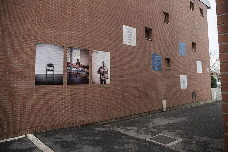 """Maison des Solidarités. Exposition """"Avant tout humains"""" de Mat jacob. Quartier de Surville. Montereau. 29/11/2018"""